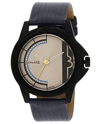 Sonata Analogue Multicolored Dial Unisex Watch 77018pl0...