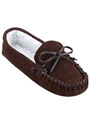 Women's Leather Slippers, Color Brown, Size 09