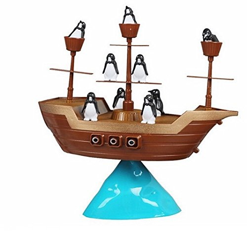 Leehonn Don't Rock the Boat Pirate Ship Penguin Balance Game Kids Children Family Activity Toys