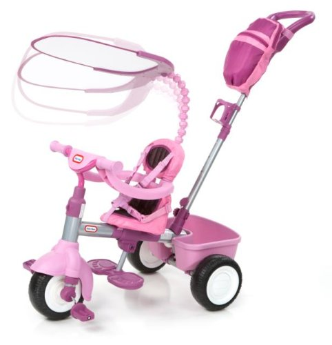 An Image of Little Tikes 3-in-1 Trike with Deluxe Accessories (Pink)