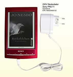Blanc Chargeur Sony E-Book Sony PRS-T1 230V: Chargeur pour Sony Sony E-Book PRS T1- Recharger votre E-Book sur le secteur AC 110 - 240 Volt -blanc