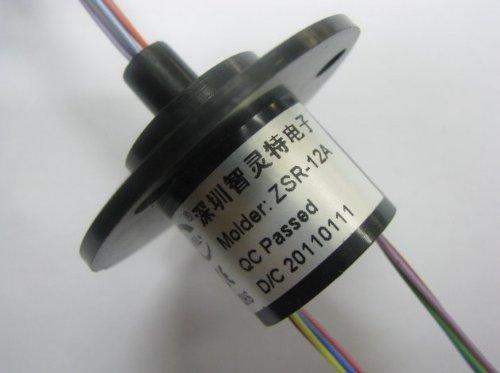 Mini Capsule Slip Ring 12 Wires 2A 500Rpm A Type Zsr022-12A