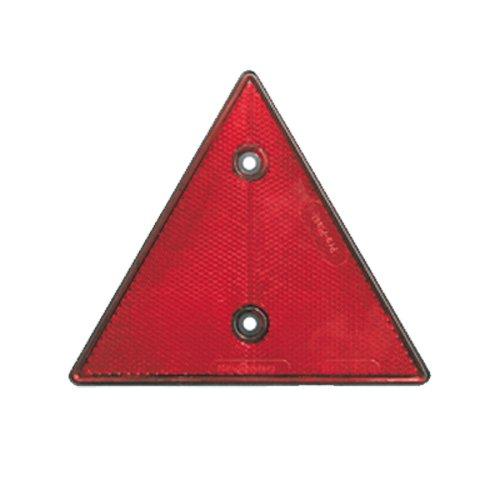Reflektor / Katzenauge / Rückstrahler rot 160x160x160mm, schwarze Rückplatte