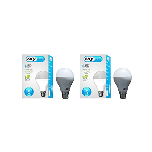 Skyled 5W LED Bulb (White, Pack Of 2)