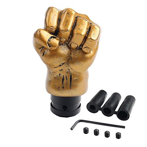 Dewhel Universal Gear Shift knob Tone Fist Gold 4 5 6 Speed (Automatic Shift Knob Gold compare prices)