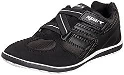 Sparx Mens Black and White Mesh Running Shoes - 6 UK (SX0202G)