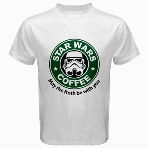 Funny T-Shirts (Star Wars Coffee) Great Gift Ideas for Adults, Men, Boys, Youth, & Teens, Collectible Novelty Shirts