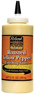 Roland Roasted Yellow Pepper Sauce, 12 Ounce Squeeze Bottle