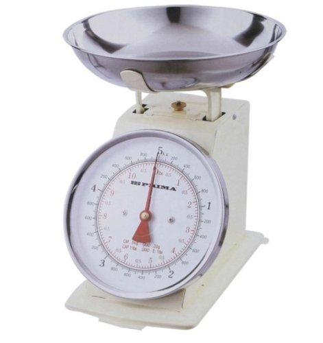 Balance Cuisine Rétro Analogique Inox Crème 3kg Traditionnel