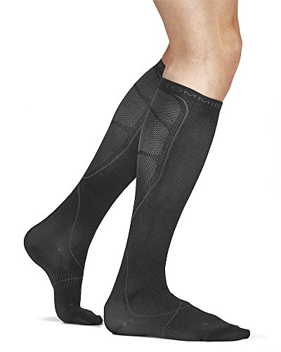 Tommie Copper Men's Recovery Jolt Dress Over the Calf Socks, Charcoal