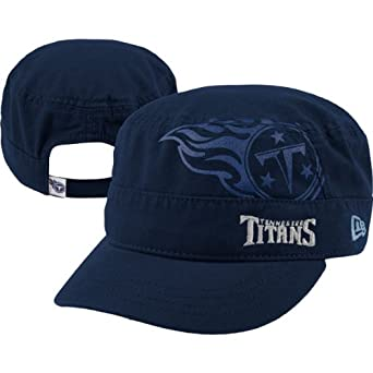 NFL Tennessee Titans Goal-2-Go Ladies Military Cap, Blue, One Size Fits All by New Era