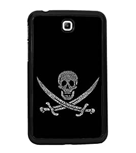 Skull with Swords 2D Hard Polycarbonate Designer Back Case Cover for Samsung Galaxy Tab 3 :: Samsung Galaxy Tab 2 P3200