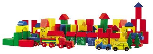 Imagen principal de HEROS 100027201 - Juego de 75 bloques de madera