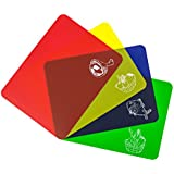 Colorful Cutting Mat Set. Best Kitchen Cutting Board Set, Super Easy Clean Modern Mats, Nice Non-Stick Surface. 4 Pieces. Imperial Kitchen Collection