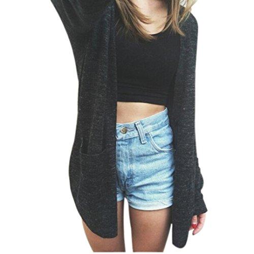 Fortan Maglione del cappotto a maniche lunghe Donne Cardigan a maglia allentato maglione Outwear (small)