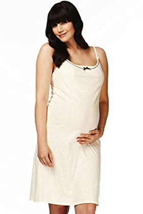 Maternity Pure Cotton Spotted Nightdress