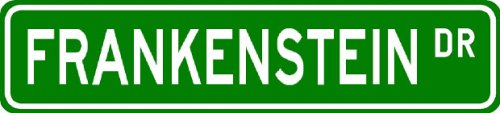 FRANKENSTEIN Street Sign ~ Personalized Family Lastname Sign ~ Gameroom, Basement, Garage Sign Novelty** METAL ALUMINUM - Buy FRANKENSTEIN Street Sign ~ Personalized Family Lastname Sign ~ Gameroom, Basement, Garage Sign Novelty** METAL ALUMINUM - Purchase FRANKENSTEIN Street Sign ~ Personalized Family Lastname Sign ~ Gameroom, Basement, Garage Sign Novelty** METAL ALUMINUM (The Lizton Sign Shop, Home & Garden,Categories,Patio Lawn & Garden,Outdoor Decor)