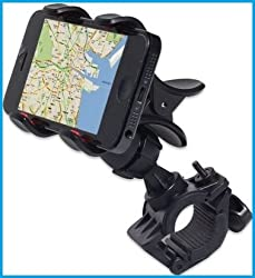 Bike Bicycle Motorcycle Mobile Cell Phone Holder Mount Bracket For Iphones, Ipods, Samsung Galaxy Phones, LG, Nokia, Htc, Blackberry Smartphones And Other Mobile Phones
