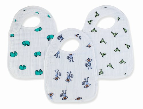 anais in Aden (Aden and ANA) [Japan AE: muslin cotton snap bib 3 set nibble jungle jum-3 Pack-7102