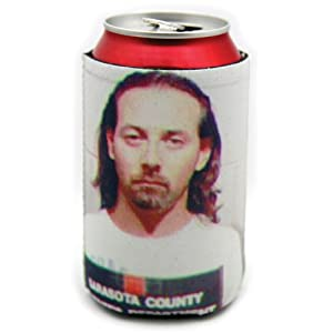 Amazon.com: Pee Wee Herman Celebrity Mugshot Koozie: Cold Beverage