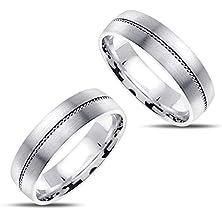 buy 14K White Gold His Her Rings 7 Mm
