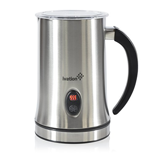 Ivation Cordless Automatic Electric Milk Frother & Warmer, Steamer, Mixer, Cappuccino Maker - Rapidly Warms, Heats & Steams - 250ml (8.4oz) (Aroma Electric Espresso Maker compare prices)