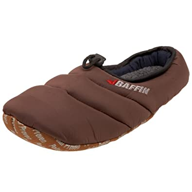 Baffin Unisex Cush Insulated Slipper,Espresso,Small (Women's 5-6 M US, Big Kid 3-4 M)