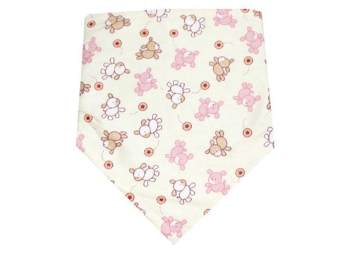 Baby Girls Cotton Bandana Bib with Velcro Fastener - Free Size