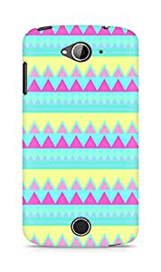 Amez designer printed 3d premium high quality back case cover for Acer Liquid Z530 (hipster blue yellow pink triangle )