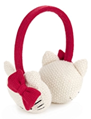 Hello Kitty Knitted Ear Muffs
