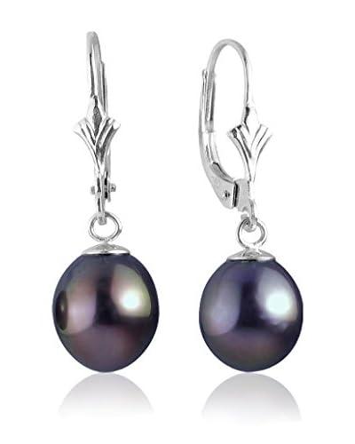 Compagnie générale des perles Pendientes  Plateado / Negro