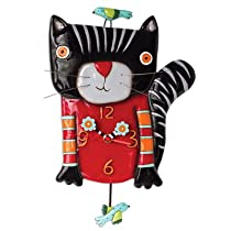 Knitty Black Kitty Clock Michelle Allen Designs