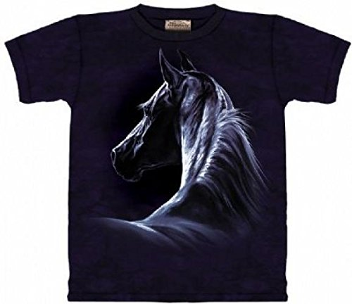 Moonlit T-Shirt 100% Cotton Short Sleeve Horse Shirt For Kids S front-319653