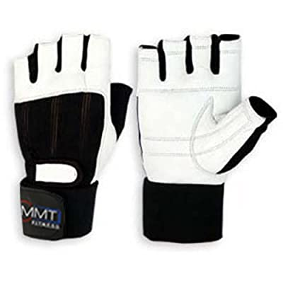 MMT Sports Ltd Leather Weight Lifting Gloves Wrist Support Double Velcro from MMT Sports Ltd