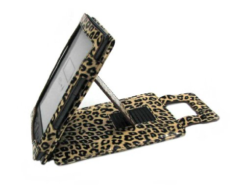 Duragadget Fashionable Leopard Print Pu Leather Case And Cover With Stand For Amazon New Kindle, Wi-Fi, 6 - Inch E Ink Display Latest Generation Kindle 4Inch