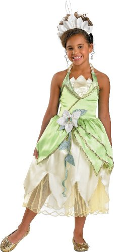 [Princess Tiana Deluxe Costume - Medium (7-8)] (Princess Tiana Disney Costume)