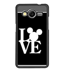 PrintDhaba Love D-1376 Back Case Cover for SAMSUNG GALAXY CORE 2 G355H (Multi-Coloured)