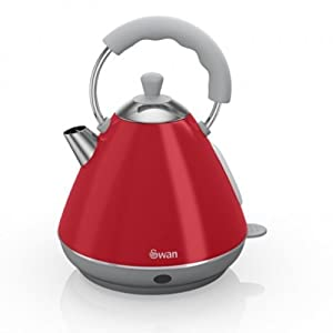Swan Kitchen Appliance Retro Set - Red Pyramid Kettle & Red 2 Slice Toaster Set from Swan