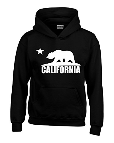 California Republic White Bear Hoodies Republic of CA Sweatshirts Medium Black 1 (Ca Hoodie compare prices)