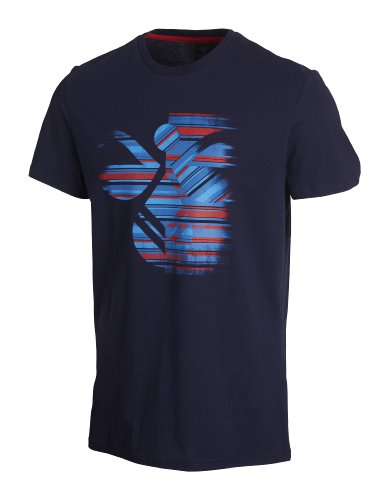 Hummel, T-shirt Uomo Sherman a maniche corte Tee, Blu (peacoat), L