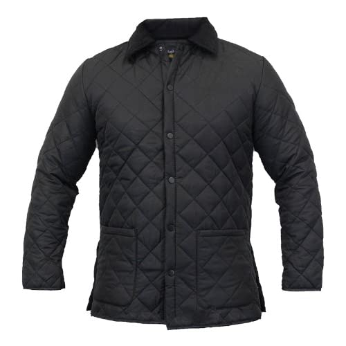Mens Soul Star Diamond Quilted Hunter Jacket Cord Patches - B47