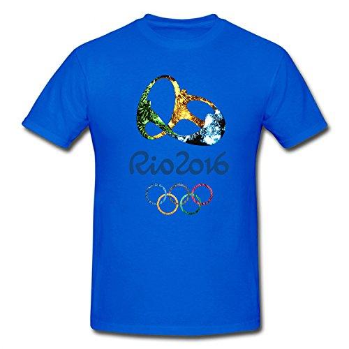BMWW Boy's&Girl's Rio 2016 Summer Olympics Logo Youth Cotton T Shirt blue M