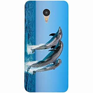 Casotec Dolphins Jump Water Design 3D Printed Hard Back Case Cover for Yu Yunicorn