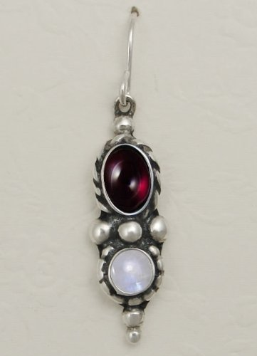 A Beautiful Combination of Gemstones Featuring Garnet and Rainbow Moonstone