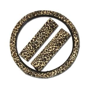 Cheetah Steering Wheel Cover with Shoulder Pad