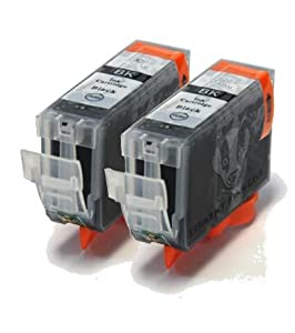 2 Black Compatible Printer Ink Cartridges for Canon i550