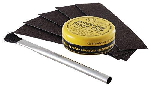 complete-solder-prep-kit-abrasive-cloth-flux-brush-and-flux-paste