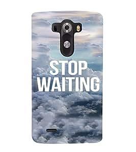 PrintVisa Life Quotes Design 3D Hard Polycarbonate Designer Back Case Cover for LG G3