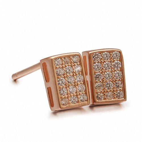 weihnachten Deal Silber Sterling Silber Ohrringe für Männer Gehobene Silber-Platz südkoreanischen Frauen Ohrringe für Männer