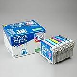 JIT リサイクルインクカートリッジ 6色 セット ブ ラック シアン マゼンタ イエロー ライトシアン ライトマゼンタ エプソン IC6CL32 互換 J 箱にキズ、汚れのあるアウトレット品です。